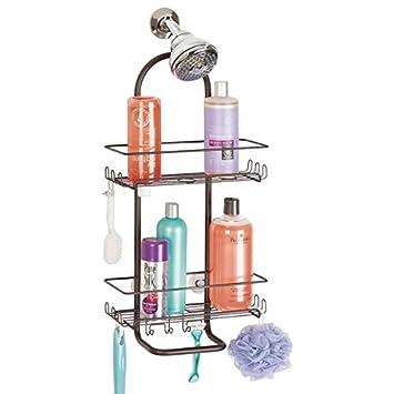 mdesign duschablage zum hngen praktisches duschregal ohne bohren zu montieren duschkrbe zum hngen aus rostfreiem metall fr ihr duschzubehr - Duschzubehor Zum Hangen