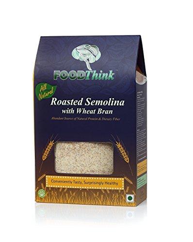 FOODThink Roasted Rava/Sooji (Semolina) with Wheat Bran – 500 grams