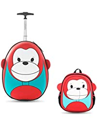 1d9523e9f3e0b4 i-baby Set Valigie Trolley Bambino Valigia Bambina Zaino e Trolley Cabina  con Rruote per Bambini Piccolo Bagaglio di…