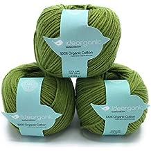 Hilo de algodón para tejer DK, 100 % orgánico, 50 g/m²,
