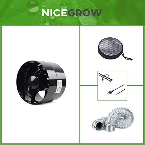 Belüftungs-Set Zuluft Grow Inline-Lüfter 100mm und Bugs Away Insektenschutz -