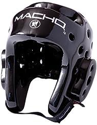 Macho Dyna–Casco protector, color negro, negro, mediano