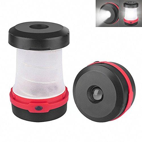 MASUNN 3W Solar einziehbare LED Outdoor Camping Laterne Licht Portable Zelt notfalltaschen Lampe - Rot (Zelt Leichteste)
