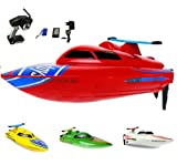 HSP Himoto Speedboot Pro 2.4GHz - RC ferngesteuertes Boot mit 2,4GHz und vollproportionale Fernsteuerung, Schiff-Modell mit Top-Speed bis zu 30km/h, Racingboat, Ready-to-Run, Top-Design