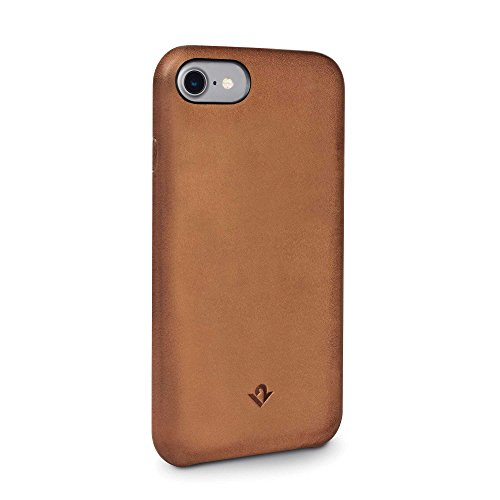 Twelve South Relaxed Leather Hülle, cognac | Handgefertigter lederüberzogener Klip, für iPhone 8 & iPhone 7 Burnished Cognac