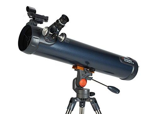 Celestron LT 76AZAstromaster - Telescopio reflector negro