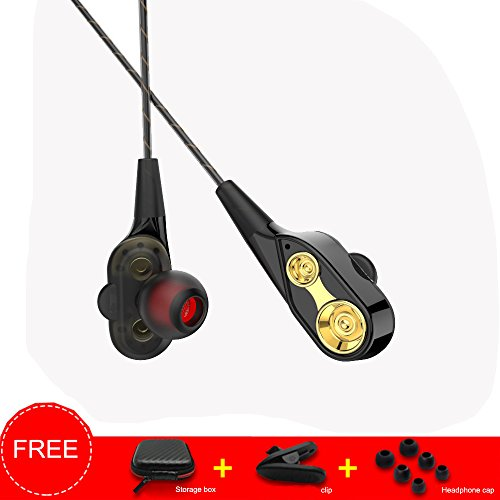 QINPIN Explosionsmodelle In-Ear-Doppelbewegungs-Spielemusikkopfhörer HiFi-Kopfhörer