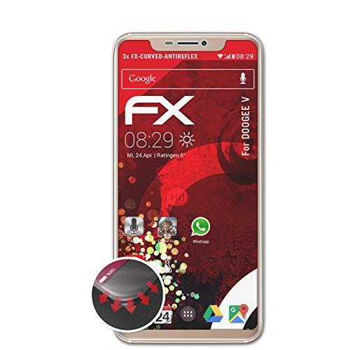 atFolix Schutzfolie passend für DOOGEE V Folie, entspiegelnde & Flexible FX Bildschirmschutzfolie (3X)