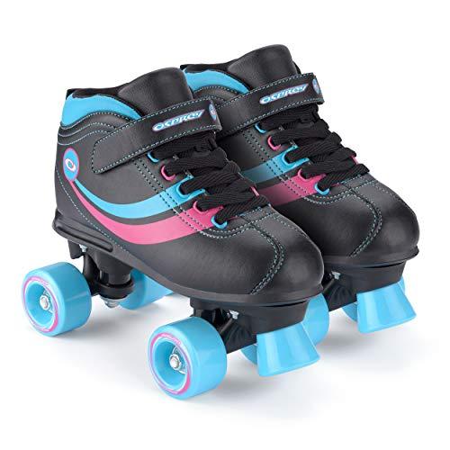 Osprey Mädchen Rollschuhe Disco Skates, Black, 1