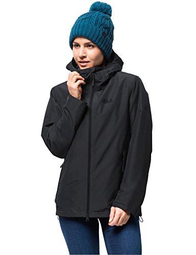 Jack Wolfskin Damen Chilly Morning JKT W Winterwanderjacke Wasserdicht Winddicht Atmungsaktiv Wetterschutzjacke, schwarz, M
