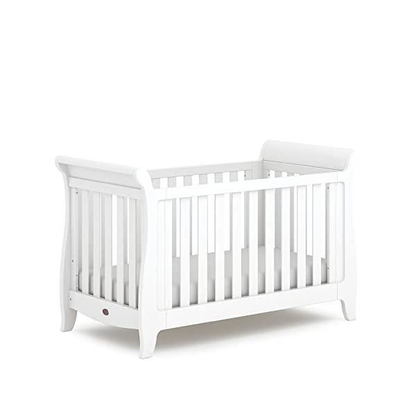 Boori SleighExpandableTM- Barley Boori Converts from cot bed to toddler bed - toddler guard panel sold separately Converts to a full size single bed -L 197cm W 108cm H 110cm-expandableconversion kit included Built from solid australian araucaria 1