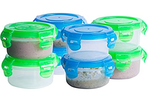 Elacra Baby Food Storage Containers BPA-Free Freezer Safe Microwavable Airtight Small Container Set, 10 Pack,