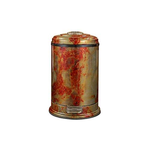 Farbe : Champagner LITINGMEI Refuse Bin Treteimer Metall Haushalt Badezimmer Küche Mülleimer Wohnzimmer Schlafzimmer Abdeckung Kreative 8L Abfall & Recycling