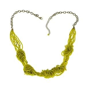 Cluster Perles jaunes Costume indien Collier Bijoux Fashion