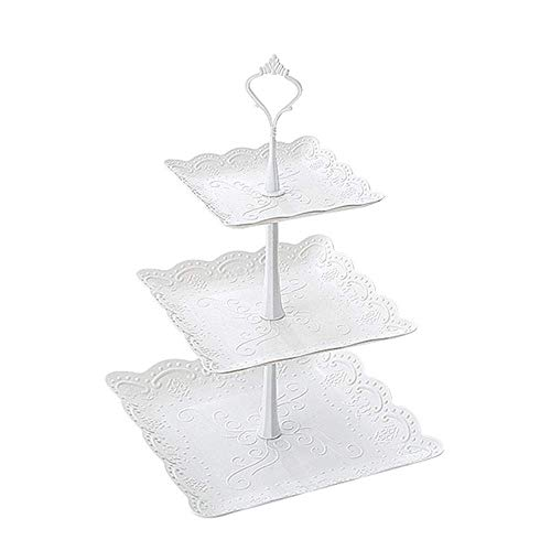 Eulan Display STARWORLD 3-Tier Cake Stand, Dessert Pastry Fruit Stand Wedding Cake Holder Plate Display Tray for Birthday Party Wedding - Tier-display Tray