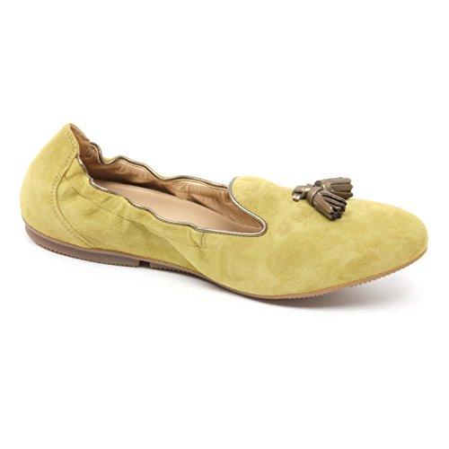 B4782 Mocassino Donna Hogan Wrap 144 Pantoufle Verde Oliva Chaussure Loafer Femme Verde Oliva