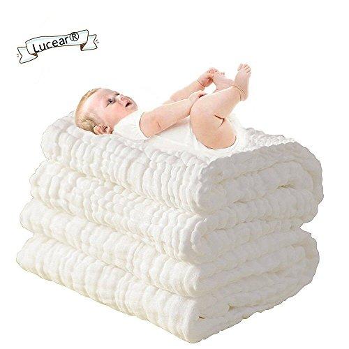 Lucear Toallas de baño para bebés recién nacidos, hechas de algodón, también se pueden usar como...