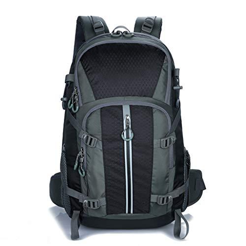 Xhhwzb zaino da escursione zaini da viaggio impermeabili da esterno impermeabili 40l per uomini e donne, borsa per alpinismo campeggio arrampicata pesca in bicicletta (colore : black)