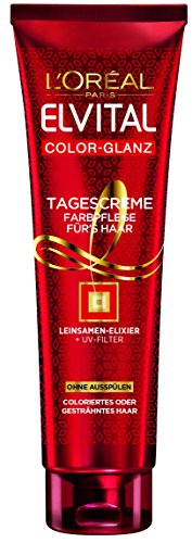 L'Oréal Paris Elvital Color Glanz Tagescreme für's Haar, 1er Pack (1 x 150 ml)
