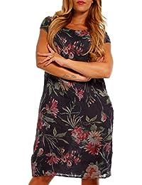 YC Fashion   Style Damen Schlichtes Leinen Kleid Longbluse Blumenmuster  Freizeit Oder Strandkleid 42d0185be9