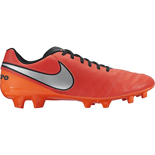 Nike Tiempo Genio II Fg, Chaussures de Football homme orange,rouge