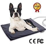 Manta Eléctrica para Mascotas 35W Almohadilla de Calefacción para Perros y Gatos con Temperatura Constante Automática