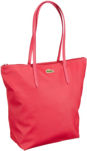 Lacoste  Women Handbag,  Borsa shopper donna, Rosso (Rot (THUJA/MOTHER OF PEARL 185)), 27x35x14 cm (B x H x T)