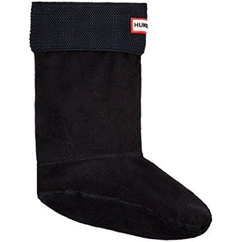 Hunter Calcetines cortos para bota de punto bobo UAS3043AAM / NEGRO - Calcetines de forro polar para botas de agua, color negro,