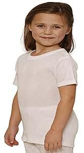 Girls Thermal Winter T-Shirts White (6-8 Years)