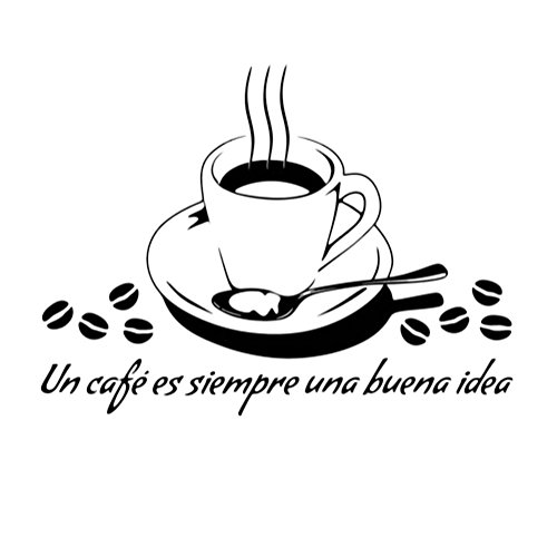 Cosanter WandTattoo Küche Kaffee Cafe Coffee Kaffeebohnen Wandsticker Wandaufkleber für...