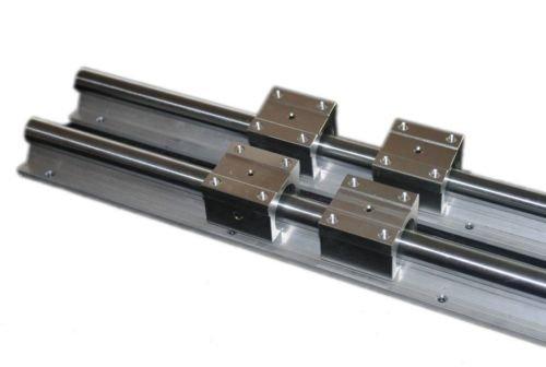 mxbaoheng 2Set sbr202000mm Full unterstützt Lineare Schiene Schaft Rod SBR 20uu Lagerbock (Gartenarbeit Edger)
