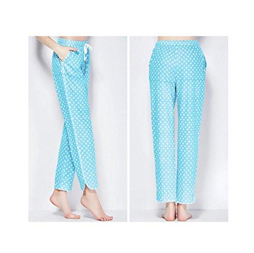 DMMSS Damen Pyjama Hose aus Baumwolle 4