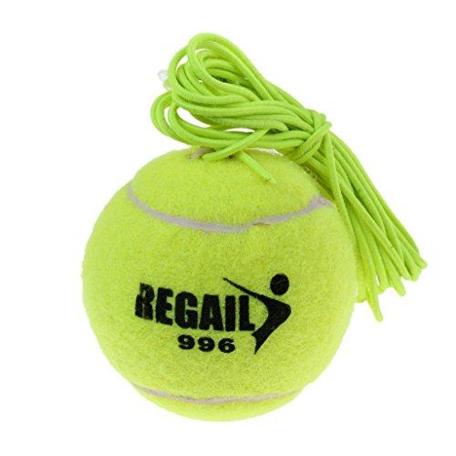 Sharplace Langlebiger Elastischer Tennisball mit Schnur Für Tennistrainer - Grün