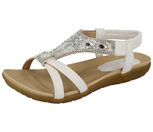 Jo & Joe , Damen Sandalen, Weiß - weiß - Größe: 39 EU