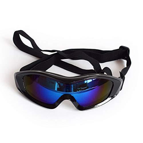Clluzu Haustier Sonnenbrille UV-Schutz Winddicht Für Große Hunde Spezielle Gläser FS-SP Kopfumfang 11,7 * 22,23