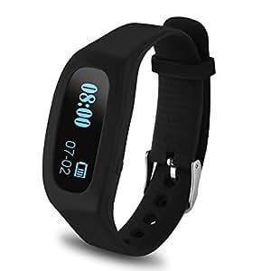 Excelvan OLED Smart Bracelet Connecté Bluetooth V4.0 - Smartband de Sport Running Paramètre Suivi du sommeil pour Smartphone Android et iOS iPhone Samsung Sony Huawei Xiaomi etc - Noir