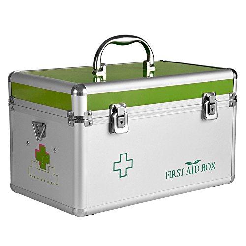 HuAma Familie Aluminium Kleine Medizin Box Multi-Layer Medizinische Ambulante Erste Hilfe Kit Medizin Lagerung Baby-Medizin-Box