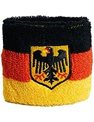 Schweißband Motiv Fahne / Flagge Deutschland mit Adler + gratis Aufkleber, Flaggenfritze®