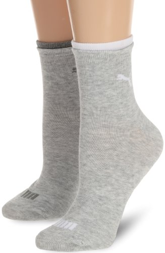 PUMA Damen Socke Lifestyle Short 2P, 035_light grey melange, 35-38, 203201001035035