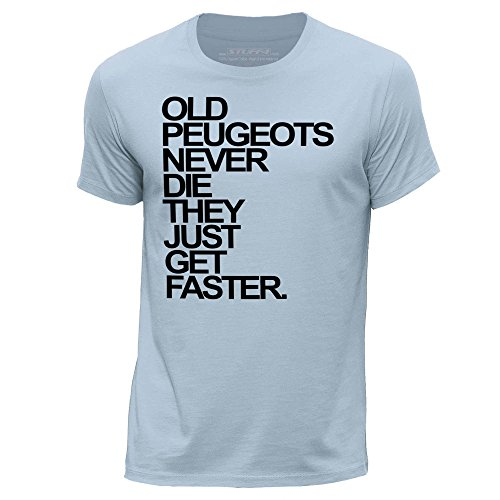 stuff4-herren-x-gross-xl-himmelblau-rundhals-t-shirt-old-peugeots-never-die