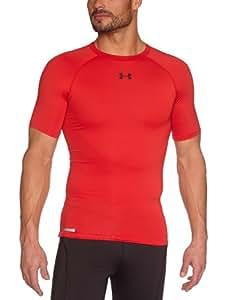 Under Armour Herren Kompressionsshirt HeatGear Sonic, Red/Black, S, 1236224-600
