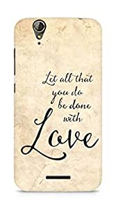 AMEZ let all that you do be done with love Back Cover For Acer Z630S