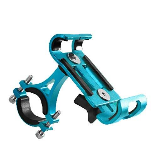 judao Universal Fahrrad Telefonhalterung ,AL6063 Aluminium Handyhalter Motorrad Elektrofahrrad Halterung für 3.5-6.2 Zoll Smartphone (Blau)