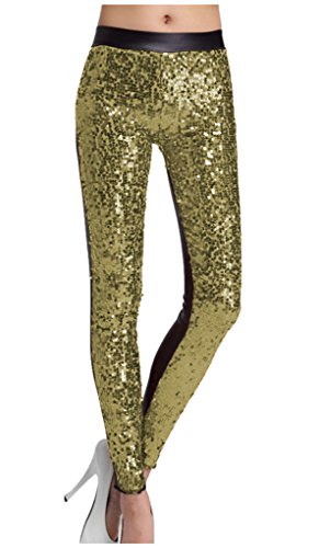 lotus-instyle-faux-cuir-avec-des-paillettes-leggings-mode-pantalons-bling-collants-golden-m