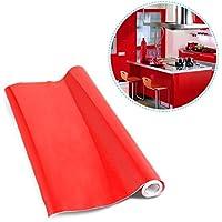 Carta adesiva 60 x 500 cm per Mobili Cucina adesivo rosso Carta da Parati Cucina (Accessori Rinnovato)