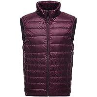 Mochoose Men's Down Puffer Jacket Coat Vest Packable Ultra Light Weight