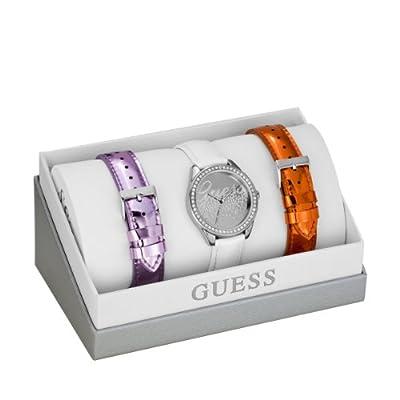 Guess W0201L1 - Reloj de pulsera para mujer, color blanco / plata