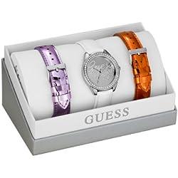 Guess W0201L1 - Reloj de pulsera para mujer, color blanco/plata