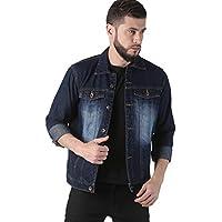 VROJASS Full Sleeve Solid Men Blue Denim Jacket