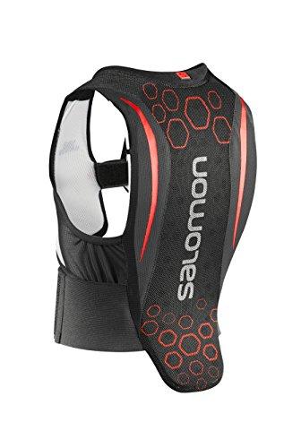 Salomon Kinder Ski-Rückenprotektor, Verstellbar, MotionFit-Technologie, Atmungsaktives Mesh-Material, Flexcell Junior, schwarz/rot, JM, L39139300
